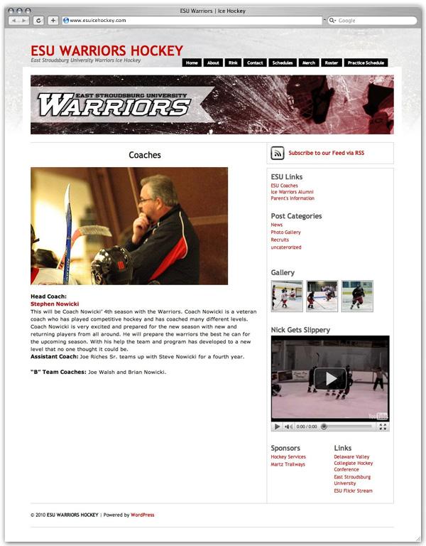 ESU Ice Hockey coaches