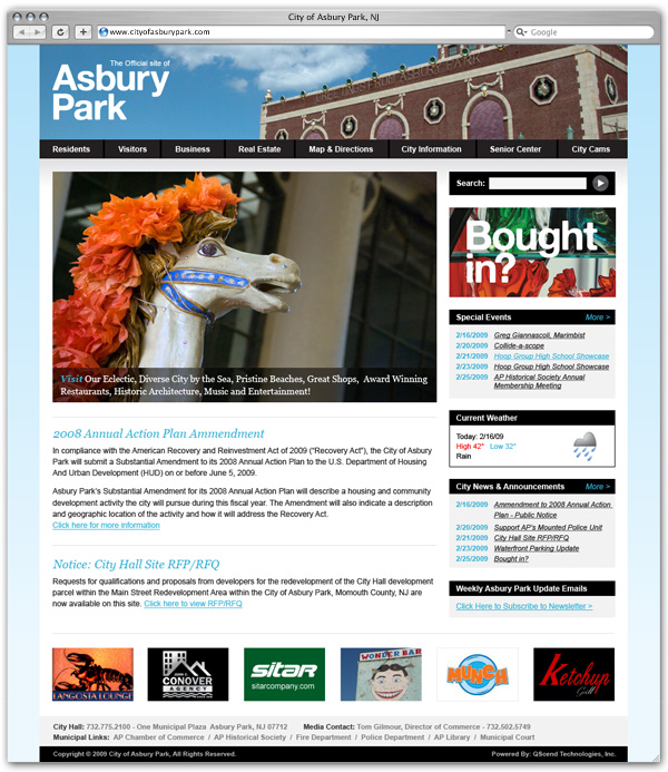 City of Asbury Park home page