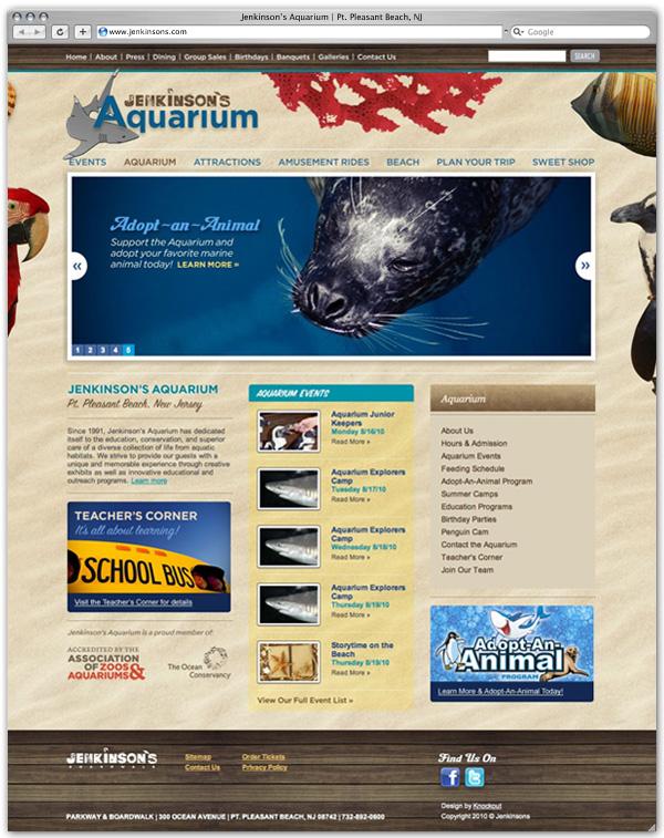 Jenkinson's Aquarium home page