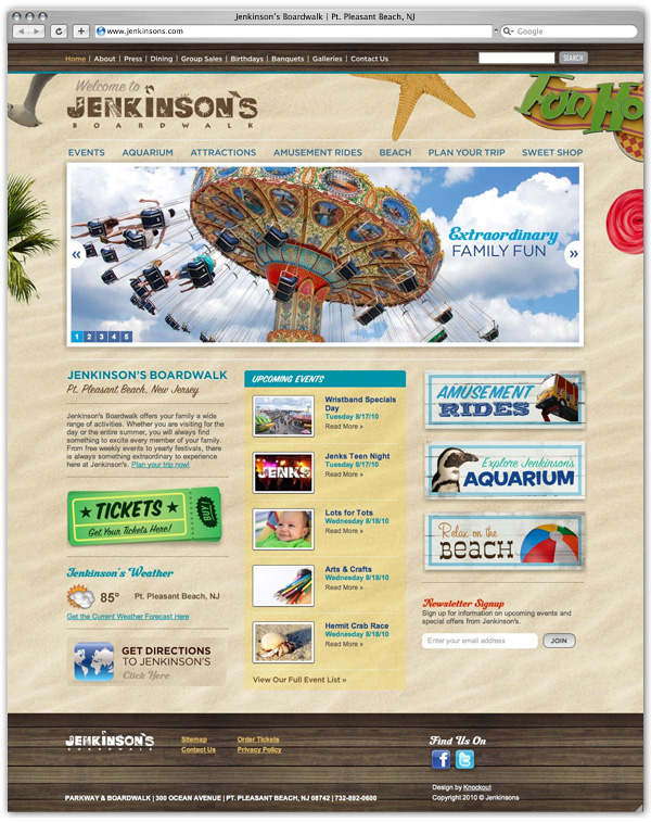 Jenkinson's Boardwalk home page