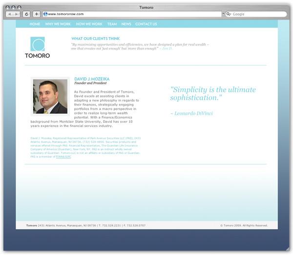 Tomoro profile page